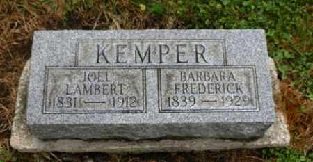 FREDERICK KEMPER, BARBARA - Marion County, Ohio | BARBARA FREDERICK KEMPER - Ohio Gravestone Photos