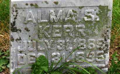 KERR, ALMA S. - Marion County, Ohio | ALMA S. KERR - Ohio Gravestone Photos