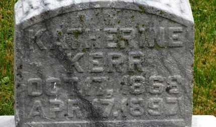 KERR, KATHERINE - Marion County, Ohio | KATHERINE KERR - Ohio Gravestone Photos