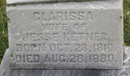KETNER, CLARISSA - Marion County, Ohio | CLARISSA KETNER - Ohio Gravestone Photos