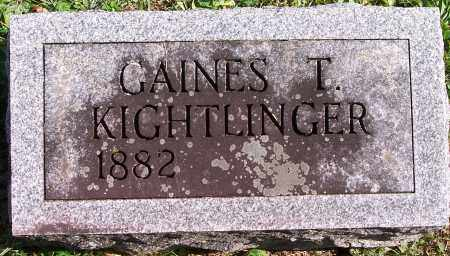 KIGHTLINGER, GAINES T - Marion County, Ohio | GAINES T KIGHTLINGER - Ohio Gravestone Photos