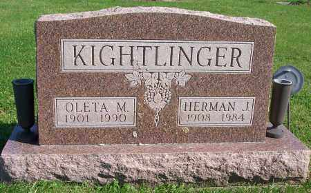KIGHTLINGER, OLETA MARIE - Marion County, Ohio | OLETA MARIE KIGHTLINGER - Ohio Gravestone Photos