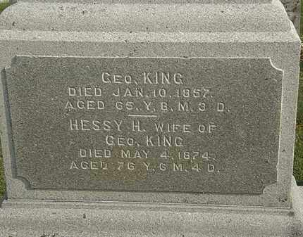 KING, HESSY H. - Marion County, Ohio | HESSY H. KING - Ohio Gravestone Photos