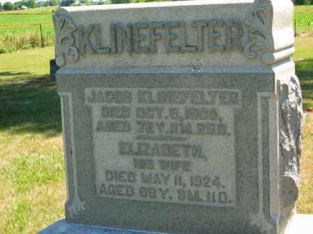 KLINEFELTER, ELIZABETH - Marion County, Ohio | ELIZABETH KLINEFELTER - Ohio Gravestone Photos