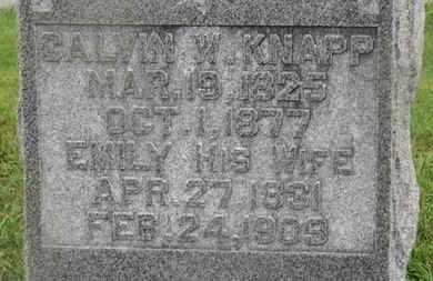 KNAPP, CALVIN W. - Marion County, Ohio | CALVIN W. KNAPP - Ohio Gravestone Photos