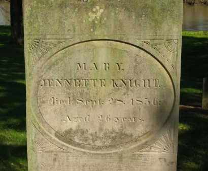KNIGHT, MARY JENNETTE - Marion County, Ohio | MARY JENNETTE KNIGHT - Ohio Gravestone Photos