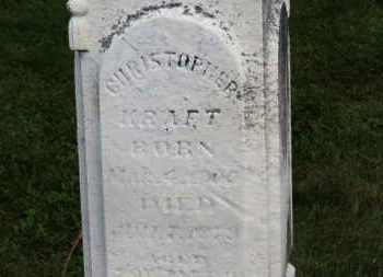 KRAFT, CHRISTOPHER - Marion County, Ohio | CHRISTOPHER KRAFT - Ohio Gravestone Photos