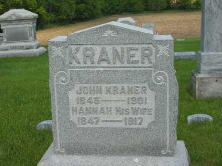KRANER, HANNAH - Marion County, Ohio | HANNAH KRANER - Ohio Gravestone Photos
