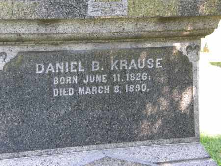 KRAUSE, DANIEL B. - Marion County, Ohio | DANIEL B. KRAUSE - Ohio Gravestone Photos