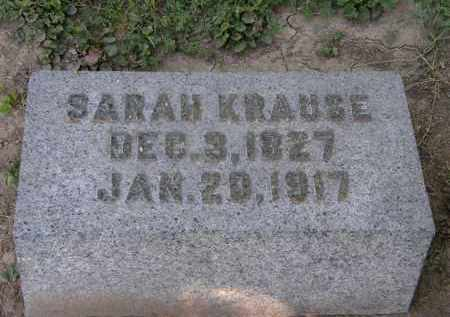 KRAUSE, SARAH - Marion County, Ohio | SARAH KRAUSE - Ohio Gravestone Photos