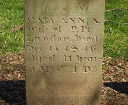 LANDON, MARY ANN - Marion County, Ohio | MARY ANN LANDON - Ohio Gravestone Photos