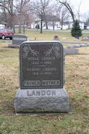 LANDON, HANNAH - Marion County, Ohio | HANNAH LANDON - Ohio Gravestone Photos