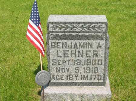 LEHNER, BENJAMIN A. - Marion County, Ohio | BENJAMIN A. LEHNER - Ohio Gravestone Photos
