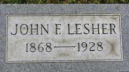 LESHER, JOHN F. - Marion County, Ohio | JOHN F. LESHER - Ohio Gravestone Photos
