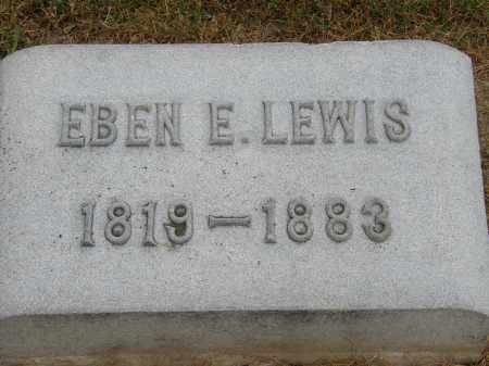 LEWIS, EBEN E. - Marion County, Ohio | EBEN E. LEWIS - Ohio Gravestone Photos