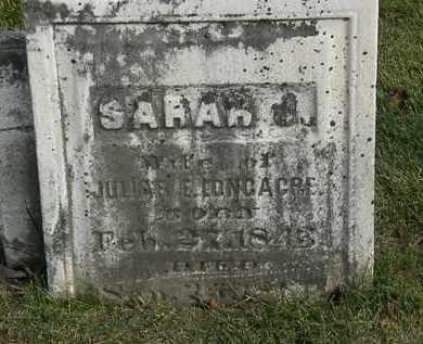 LONGACRE, SARAH J. - Marion County, Ohio | SARAH J. LONGACRE - Ohio Gravestone Photos