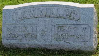 LOWMILLER, HENRY W. - Marion County, Ohio | HENRY W. LOWMILLER - Ohio Gravestone Photos