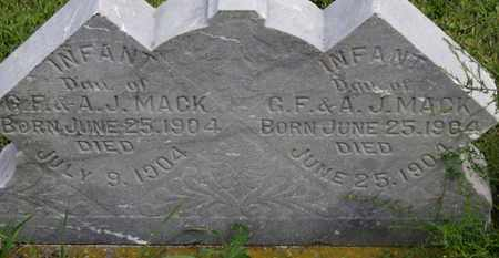 MACK, INFANT DAU. - Marion County, Ohio | INFANT DAU. MACK - Ohio Gravestone Photos