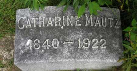 MAUTZ, CATHARINE - Marion County, Ohio | CATHARINE MAUTZ - Ohio Gravestone Photos