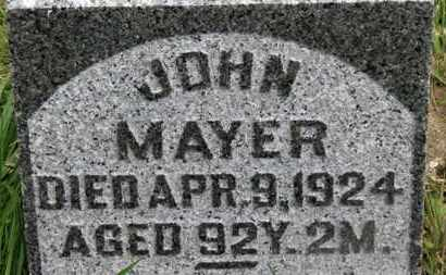 MAYER, JOHN - Marion County, Ohio | JOHN MAYER - Ohio Gravestone Photos