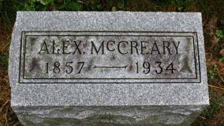 MCCREARY, ALEX - Marion County, Ohio | ALEX MCCREARY - Ohio Gravestone Photos