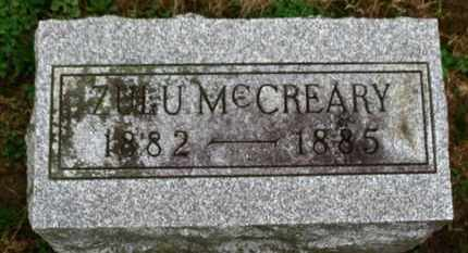 MCCREARY, ZULU - Marion County, Ohio | ZULU MCCREARY - Ohio Gravestone Photos