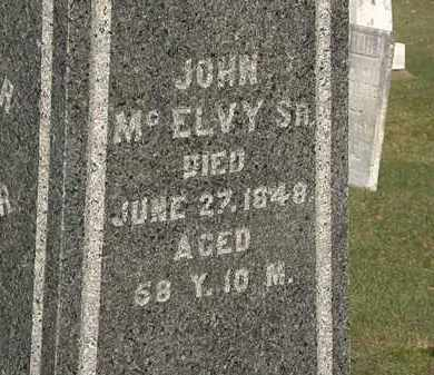MCELVY, JOHN SR. - Marion County, Ohio | JOHN SR. MCELVY - Ohio Gravestone Photos