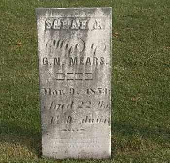 MEARS, SARAH J. - Marion County, Ohio | SARAH J. MEARS - Ohio Gravestone Photos