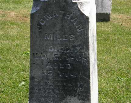 MILES, JONATHAN - Marion County, Ohio | JONATHAN MILES - Ohio Gravestone Photos