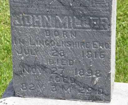 MILLER, JOHN - Marion County, Ohio | JOHN MILLER - Ohio Gravestone Photos
