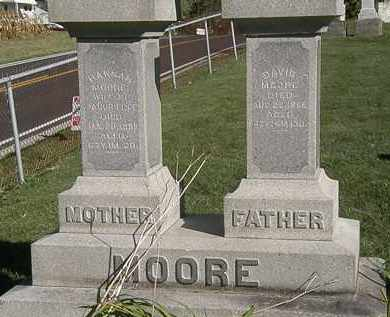 MOORE, DAVID - Marion County, Ohio | DAVID MOORE - Ohio Gravestone Photos