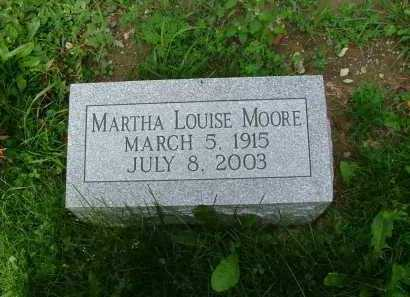 CURL MOORE, MARTHA LOUISE - Marion County, Ohio | MARTHA LOUISE CURL MOORE - Ohio Gravestone Photos
