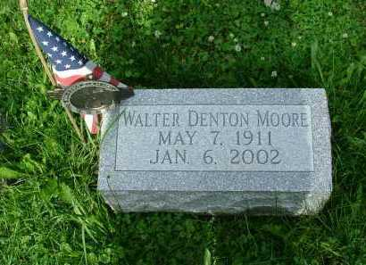 MOORE, WALTER DENTON - Marion County, Ohio | WALTER DENTON MOORE - Ohio Gravestone Photos