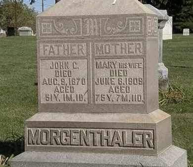 MORGENTHALER, JOHN C. - Marion County, Ohio | JOHN C. MORGENTHALER - Ohio Gravestone Photos
