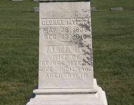 MYERS, ALMA R. - Marion County, Ohio | ALMA R. MYERS - Ohio Gravestone Photos