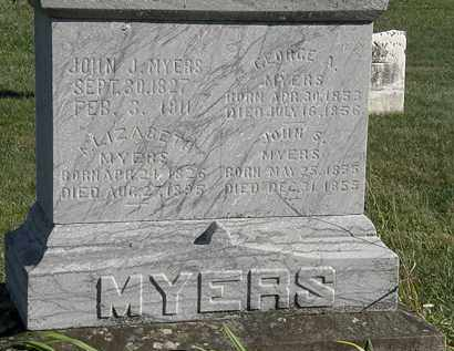 MYERS, GEORGE A - Marion County, Ohio | GEORGE A MYERS - Ohio Gravestone Photos