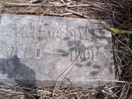 MYLES, CYNTHIA - Marion County, Ohio | CYNTHIA MYLES - Ohio Gravestone Photos
