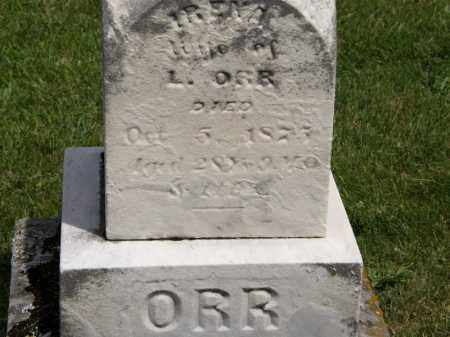 ORR, L. - Marion County, Ohio | L. ORR - Ohio Gravestone Photos
