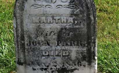 PARR, MARTHA - Marion County, Ohio | MARTHA PARR - Ohio Gravestone Photos