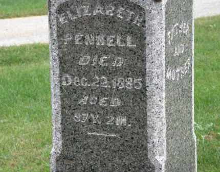 PENNELL, ELIZABETH - Marion County, Ohio | ELIZABETH PENNELL - Ohio Gravestone Photos