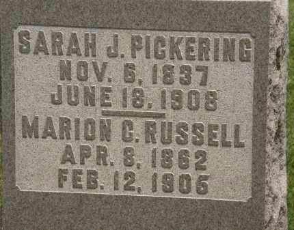 PICKERING, SARAH J. - Marion County, Ohio | SARAH J. PICKERING - Ohio Gravestone Photos
