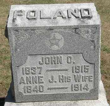 POLAND, ANNE J. - Marion County, Ohio | ANNE J. POLAND - Ohio Gravestone Photos