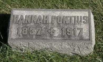 PONTIUS, HANNAH - Marion County, Ohio | HANNAH PONTIUS - Ohio Gravestone Photos
