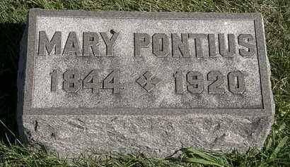 PONTIUS, MARY - Marion County, Ohio | MARY PONTIUS - Ohio Gravestone Photos