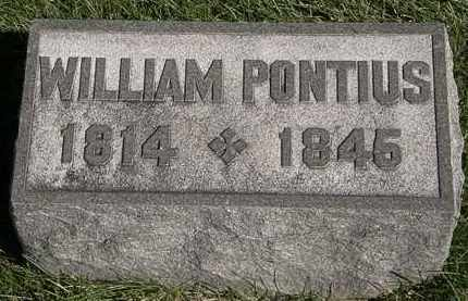 PONTIUS, WILLIAM - Marion County, Ohio | WILLIAM PONTIUS - Ohio Gravestone Photos