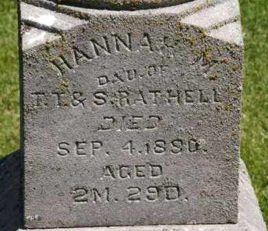 RATHELL, S. - Marion County, Ohio | S. RATHELL - Ohio Gravestone Photos