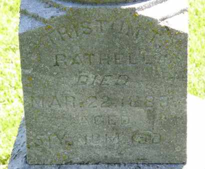 RATHELL, TRISTUM T. - Marion County, Ohio | TRISTUM T. RATHELL - Ohio Gravestone Photos