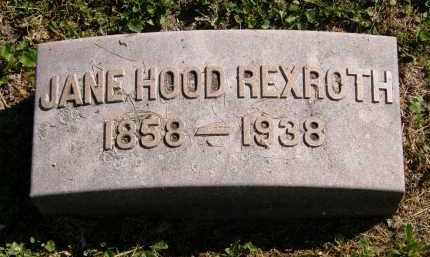 HOOD REXROTH, JANE - Marion County, Ohio | JANE HOOD REXROTH - Ohio Gravestone Photos