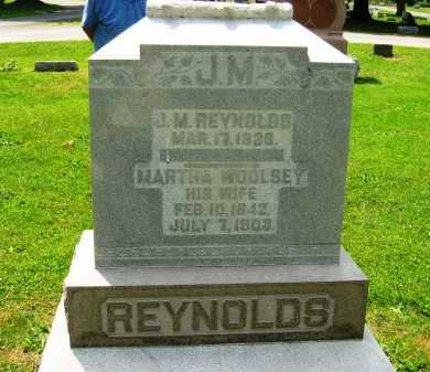 WOOLSEY REYNOLDS, MARTHA - Marion County, Ohio | MARTHA WOOLSEY REYNOLDS - Ohio Gravestone Photos