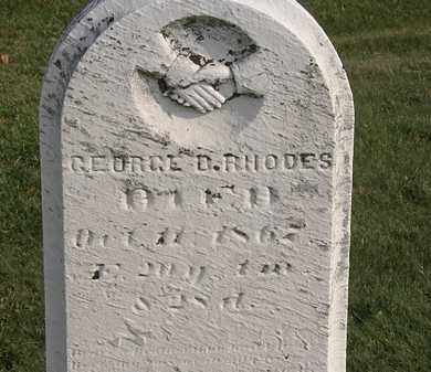 RHODES, GEORGE B. - Marion County, Ohio | GEORGE B. RHODES - Ohio Gravestone Photos